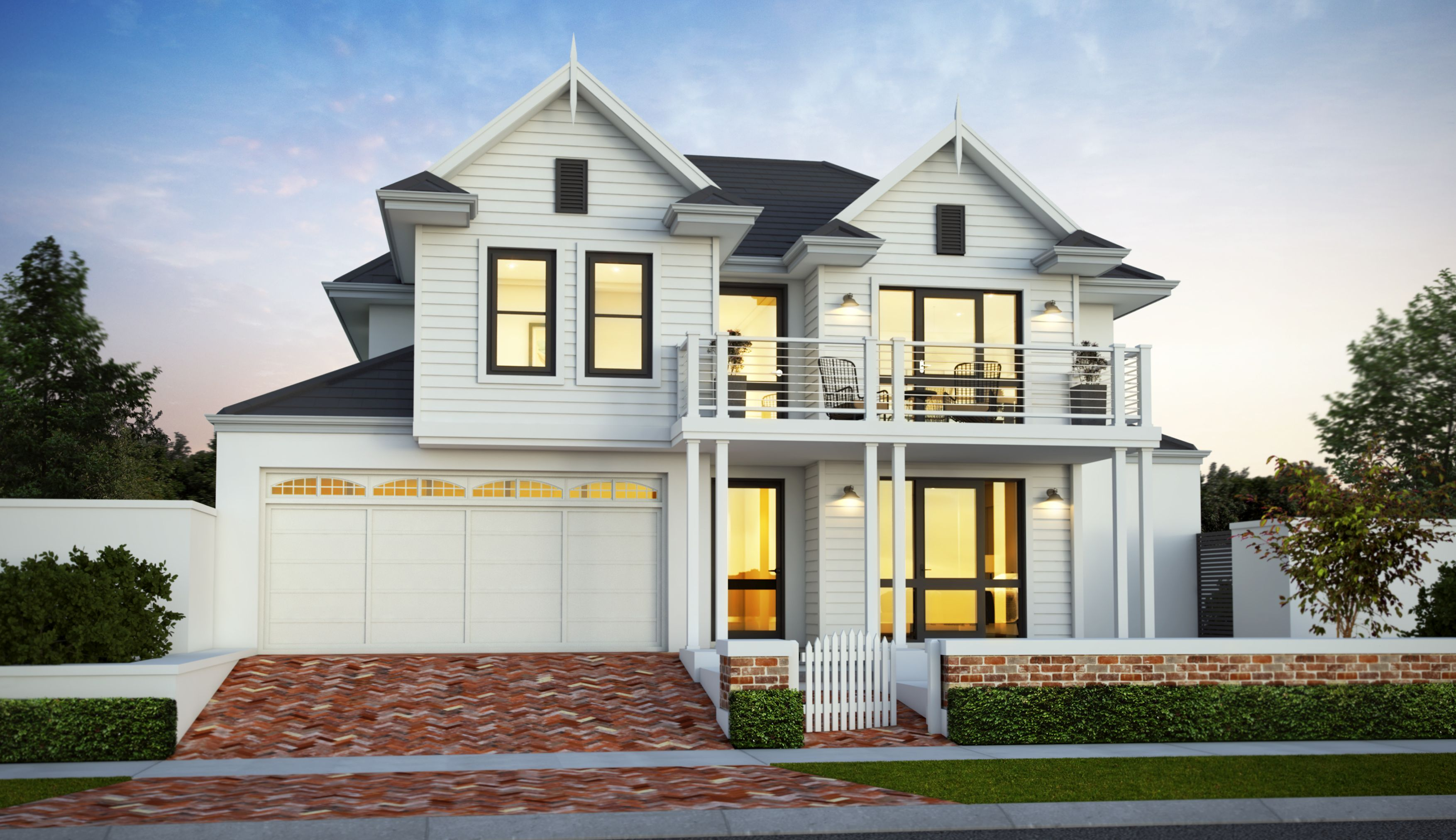 than the custom product we invite you to have a look at our standard two storey hampton style home design below it just maybe what you are after - Hampton Home Designs