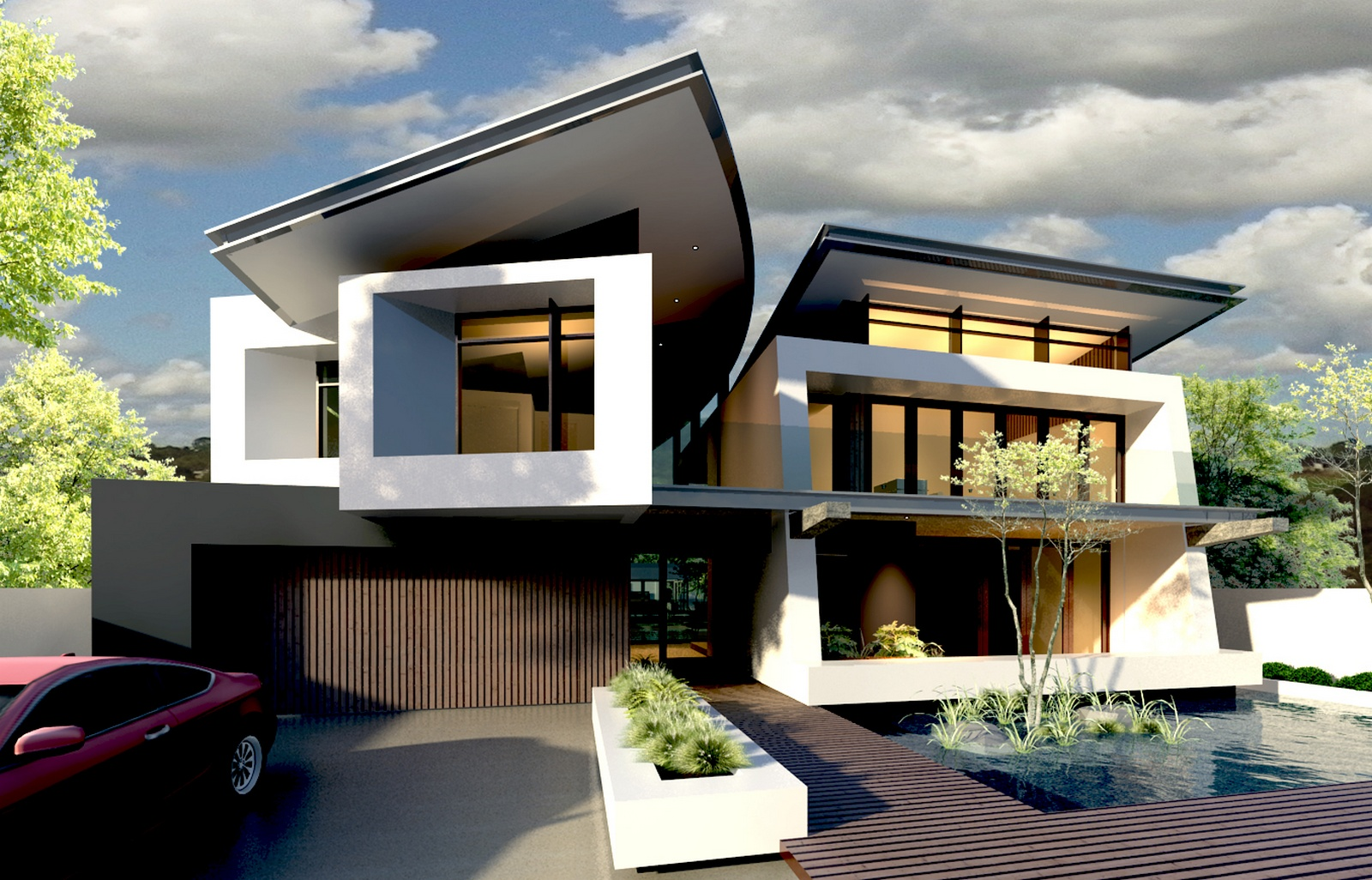 Modern home designs - Modern contemporary house plans designs ...
